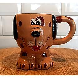 Taza de cerámica infantil con forma de animal divertido de Spotty Dog