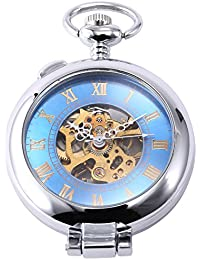 AMPM24 WPK130 - Reloj Bolsillo Mecánico, Caja Plateado