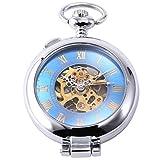 EASTPOLE WPK130 - Reloj Bolsillo Mec¨¢nico, Caja Plateado