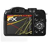 atFoliX Folie für Fujifilm FinePix S2980 Displayschutzfolie - 3 x FX-Antireflex-HD hochauflösende entspiegelnde Schutzfolie