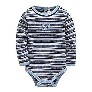 XXYsm Unisex Baby Body Mädchen Overall Jungen Langarm Gestreift Strampler Winter Streifen Jumpsuit