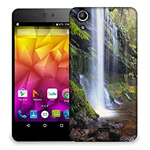Snoogg Waterfall In Force Designer Protective Phone Back Case Cover For Micromax Canvas Selfie Lens Q345