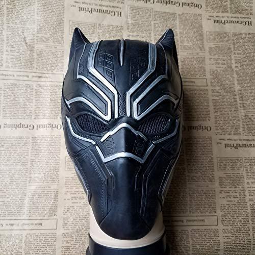NANLAI Schwarz Panther Maske Kostüm Deluxe Halloween Schwarz Helm Herren Cosplay Mask (Herr Helm Kostüm)