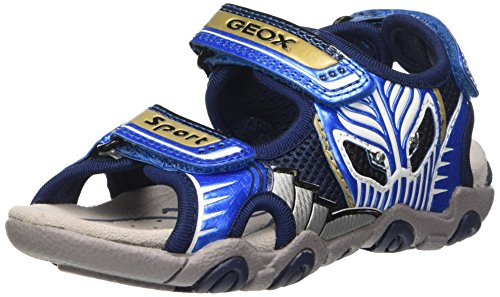 Geox Jungen JR Sandal Strike B, Blau (Navy/LT BLUEC0693), 32 EU