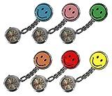 Schwesternuhr 6er Set (= 6 Stück jede Farbe 1x) Tiga-Med Schwesternuhren Smiley Clip Krankenschwesteruhr