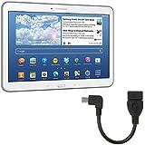 kwmobile Micro USB auf USB 2.0 Adapter 90° Winkelstecker für Samsung Galaxy Tab 4 10.1 in Schwarz