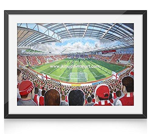 """New York-STADION """"25.40 cm x 20.32 cm, gerahmt, Personalisierbare Zeitungsseite englischsprachig Rotherham United FC"""