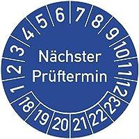 Nächster Prüftermin Prüfplakette, 100 Stück, in verschiedenen Farben und Größen, Prüfetikett Prüfsiegel Plakette