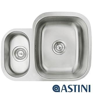 Astini Renzo 1.5 Bowl Brushed Stainless Steel Undermount Kitchen Sink LHSB