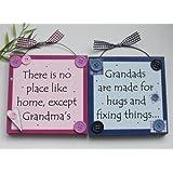 TP Grandma and Grandad Wooden Keepsake Gift Plaques/signs