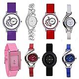 Sitaram Creation Maddox Stylish Analogue Multi Color Watches For Girls Combo-100