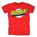 TSP The Big Bang Theory - Bazinga Super Logo T-Shirt Herren XXL Rot