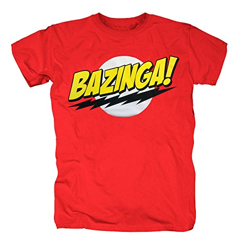 TSP The Big Bang Theory - Bazinga Super Logo T-Shirt Herren XL (Kitty Kostüm Super)