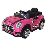 Macchina Elettrica per BambiniL'auto macchina elettrica Mini Coupè cabrio rosa 12V per bambini è piena di pregi è Funzionale, divertente e di tendenza. Ha tutto per conquistare grandi e piccoli, un modello dal fascino tutto britannico. La Min...