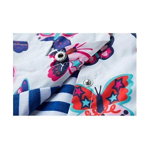 Chaqueta Impermeable Niñas en Primavera y Otoño Animales de Impresión Chaqueta con Capucha 2-6 Años(Escarabajo rojo… 3
