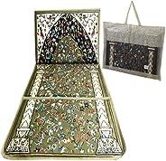 Folding Prayer Mat Portable Comfortable Medical Prayer Rug Backrest Seat Chair Carrying Pocket Luxury Foldable