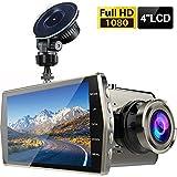 Autofahren Recorder 4 Zoll Großen Bildschirm 1080P HD Nachtsicht Vorne Und Hinten Doppellinse 170 ° Weitwinkel