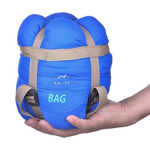 Agemore envelope-sacco a pelo per campeggio, escursionismo, ultra leggera (33,02 cm
