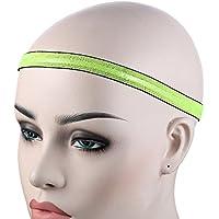 Shuzhen,Elastic Yoga Headband Unisex Running Ciclismo Ball Game Sweatband(Color:Amarillo Fluorescente)