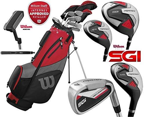 The Golf Store 4u Ltd Wilson ProStaff SGI Herren Golfschläger-Set für Linkshänder, Stahlschaft mit Graphitschaft und Holz