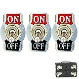E Support™ 3 X 20A 125V 15A 250V Kippschalter Schalter Wippschalter DPST 4-Polig EIN/AUS Metall