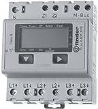 Finder 7E5684000030 Compteur d'énergie digital triphasé 5 A nominal 6 max 3 x 230 VAC Classe 1/B en lot de 5 unités