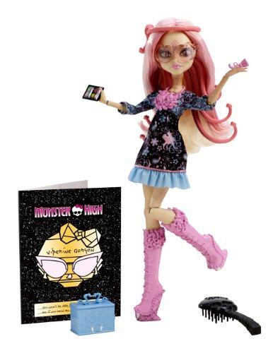 Mattel Monster High BLX03 - Licht aus Grusel an Deluxe Viperine Gorgon, Puppe mit Zubehör (Monster High Vampir-königin)
