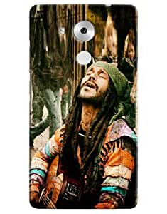 Omnam Man Singing In Tune Printed Designer Back Cover Case For Huawei Honor Mate 8
