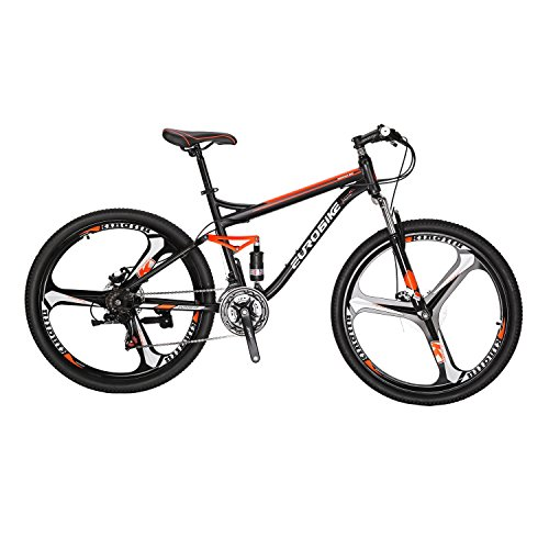 51OmO1DduZL. SS500  - Eurobike Bicycle S7-27.5 Mountain Bike 21 Speed Shift Left 3 Right 7 Frame 3 spoke wheels Shock Absorption Mountain Bicycle