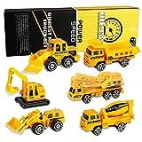 XDDIAS Mini Baustelle Spielzeug Set, 6 Pcs Baustellenfahrzeug Spiele Fahrzeuge, Legierung Modelle Autos Bagger Lastwagen für Kinder Jungen Geschenkset Weihnachts Geschenk