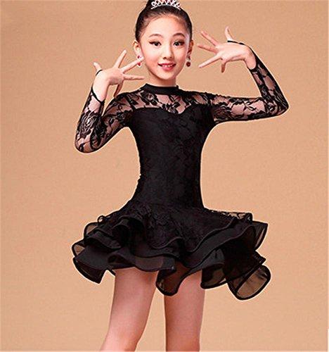Fille / femme latine robe de danse / jupe en dentelle de danse Black