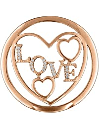 MY iMenso Love portada insignia plata adrina con circonita 33 mm 33-1188