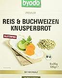 Byodo Reis und Buchweizen Knusperbrot, 4er Pack (4 x 120 g)