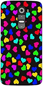Snoogg Heart Pattern 2421 Designer Protective Back Case Cover For LG G2