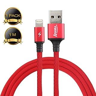 AMANKA Ladekabel Mobiltelefon auf USB, 0,9m, Zertifiziert von Mobiltelefon