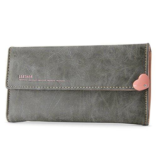 Women's Matte PU Leather Wallet [BELK] Mini Cross-body Single Shoulder Bag Cellphone Pouch viola Grigio