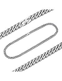 ManoaShark Herren Damen Kette Halskette Halskette Königskette Panzerkette Edelstahl