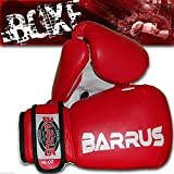 GUANTONI FULL BARRUS BOXE KICK BOXING MMA (Rosso, 10oz)