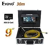 HUIGE 9 Pulgadas 30M HD 1000TVL con Video Industrial endoscopio Herramientas de Pruebas mecánicas inspección de la cámara, Drenaje alcantarillado Industrial endoscopio Impermeable IP68