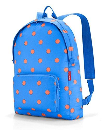 Reisenthel mini maxi rucksack Polyester Blue backpack - Backpacks (Polyester, Blue, Pattern, Zipper, 300 mm, 110 mm)