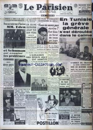 PARISIEN LIBERE EDITION DE 5 HEURES (LE) [No 2298] du 02/02/1952