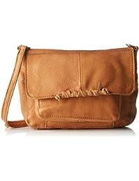 PIECES Pcmusta Leather Cross Over Bag - Shoppers y bolsos de hombro Mujer