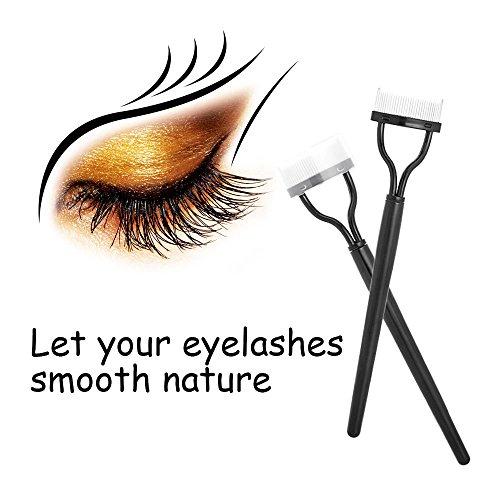 Feytuo Wimpernkamm Lash Separator Mascara Lift Curl Metallbürste Schönheit Make-up-Tool