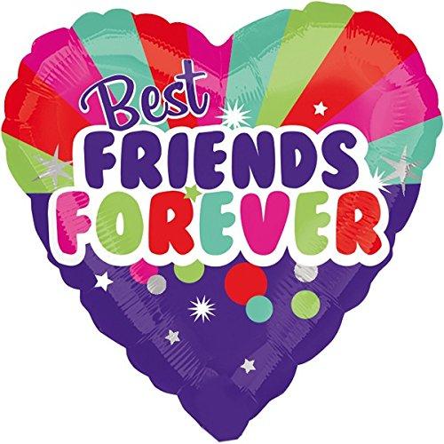 paduTec Best Friends Forever Folienballon Herzballon Herz Luftballon Ballon - geeignet zur befüllung mit Luft oder Helium Gas Ballongas - UNGEFÜLLT (Freund Besten Ballons)