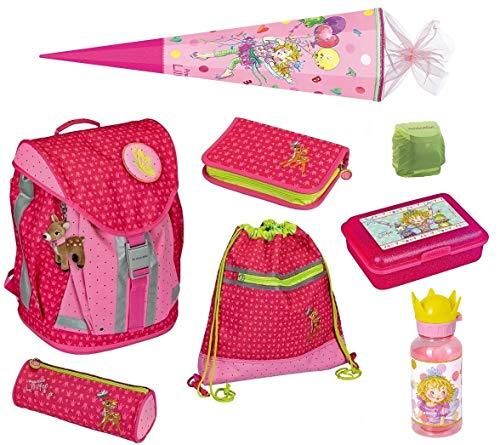 Die Spiegelburg Schulranzen-Set Prinzessin Lillifee Feenball 8tlg. mit Dose, Trinkflasche, Schultüte 85cm und Regenschutz; Flex Style Schul-Rucksack