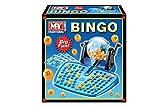 MY - Gioco del bingo, 48 carte con 100 chip, 90 palle da bingo e distributore di palle
