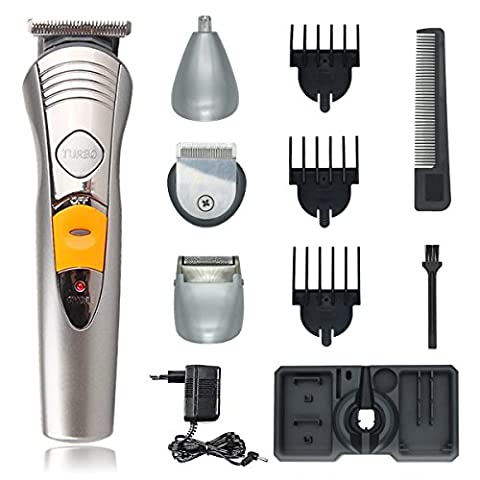 Electric Shaver for Men,T-Antrix All in 1 Grooming Kit Hair Clippers Nose Ear Beard and Mustache Trimmer [Rechargeable] [Waterproof] Wet and Dry Cordless Male Trimming with 3 Guide