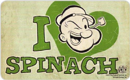 Popeye - Retro Vintage Frühstücksbrettchen Schneidbrett - I Heart Spinach! (Kinder Olivia Kostüm)