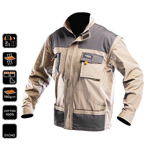 Preisvergleich Produktbild Profi Arbeitsjacke 2in1 Weste Jacke Arbeitskleidung Arbeitsweste Outdoor XL