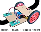 #9: Line tracker following robot with track and project report